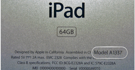 What model is my iPad?